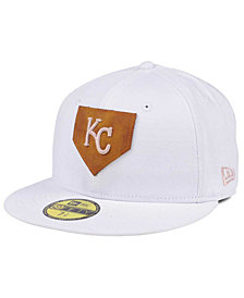 New Era Kansas City Royals The Logo of Leather 59FIFTY Cap