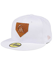 New Era Miami Marlins The Logo of Leather 59FIFTY Cap
