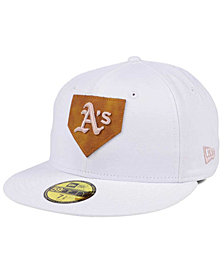 New Era Oakland Athletics The Logo of Leather 59FIFTY Cap