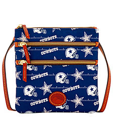 Dooney & Bourke Dallas Cowboys Nylon Triple Zip Crossbody