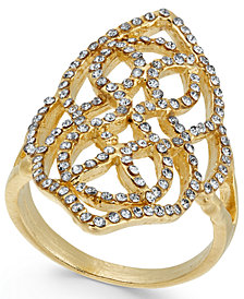 I.N.C. Gold-Tone Pavé Statement Ring, Created for Macy's