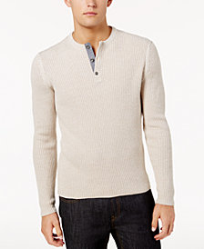 American Rag Men's Henley Sweater, Created for Macy's