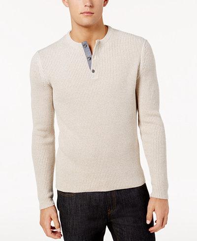 American Rag Men's Henley Sweater, Created for Macy's