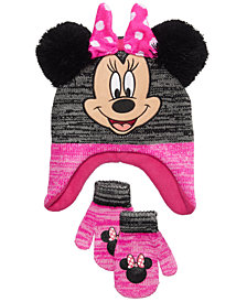 Minnie Mouse 2-Pc.  Hat & Mittens Set, Toddler Girls