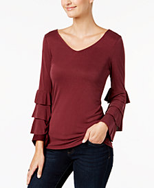 Love Scarlett Petite Tiered-Sleeve Top, Created for Macy's