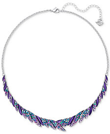 Swarovski Silver-Tone Multi-Stone Collar Necklace