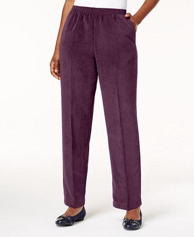 Alfred Dunner Petite Corduroy Straight-Leg Pants