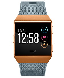 Fitbit Unisex Ionic Slate Blue Elastomer Strap Smart Watch 35x32mm