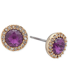 Ivanka Trump Stone and Halo Stud Earrings