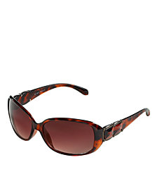 Nine West Sunglasses, Rectangle with Stud Detail