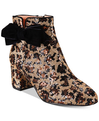 c2b1cee83715b kate spade new york Leopard Print Langley Bow Booties & Reviews - Boots -  Shoes - Macy's