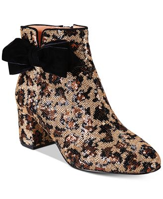 kate spade new york Leopard Print Langley Bow Booties