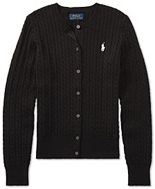 Ralph Lauren Big Girls Cable Cardigan