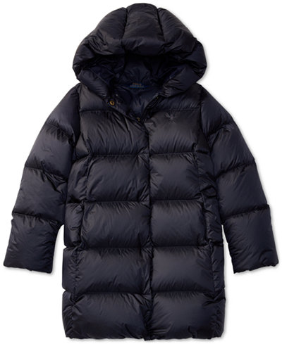 Ralph Lauren Quilted Coat, Big Girls (7-16) - Coats & Jackets ...