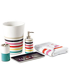 kate spade new york Candy Stripe Bath Collection