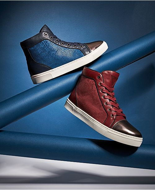 9b4c5efddc90 GUESS Boden Gold-Toe High-Top Sneakers   Reviews - All Men s ...