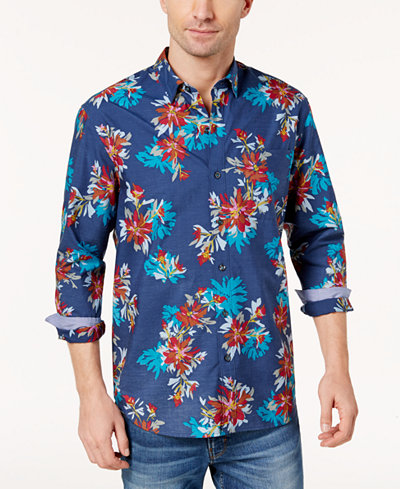 Tommy Bahama Men's Floral-Print Shirt - Casual Button-Down Shirts ...