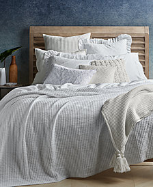CLOSEOUT! Lucky Brand Ribbed Matelassé Coverlet Collection