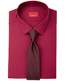 Alfani Men's Solid Dress Shirt & Panel Tie, Created for Macy's