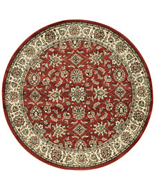 "CLOSEOUT! KM Home Pesaro Meshed Brick 5' 3"" Round Area Rug"