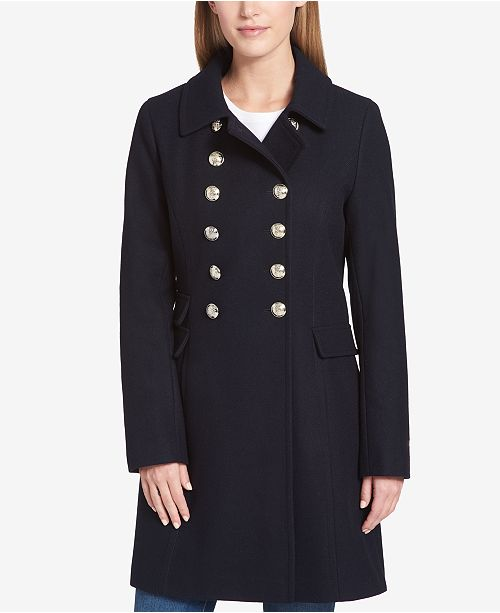 cheap for sale catch discount sale Tommy Hilfiger Double-Breasted Peacoat & Reviews - Coats ...