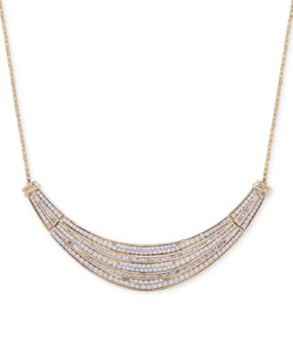 Diamond Dome Necklace (2 ct. t.w.) in 14k Gold, Created for Macy's