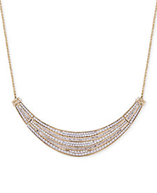 Wrapped in Love™ Diamond Dome Necklace (2 ct. t.w.) in 14k Gold, Created for Macy's