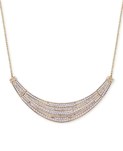 Wrapped in Love Diamond Dome Necklace (2 ct. t.w.) in 14k Gold, Created for Macy's