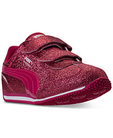 Puma Little Girls' Whirlwind Glitz Stay-Put Closure Athletic Casual Sneakers from Finish Line
