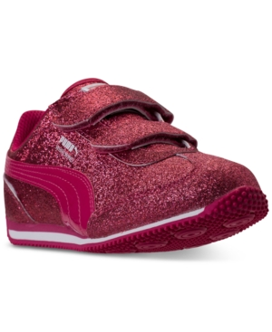 Puma Little Girls Whirlwind Glitz StayPut Closure Athletic Casual Sneakers from Finish Line