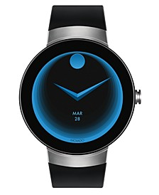 Men's  Connect Black Silicone Strap Smart Watch 46.5mm