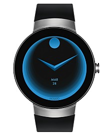 Movado Men's  Connect Black Silicone Strap Smart Watch 46.5mm