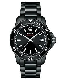 Men's Swiss Series 800 Black PVD Performance Steel Bracelet Watch 40mm