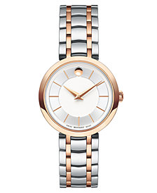 Movado Women's 1881 Quartz Two-Tone PVD Stainless Steel Bracelet Watch 28mm
