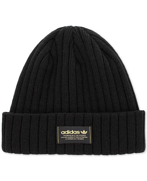 adidas Men s Ribbed-Knit Beanie - Hats 23a327a17e1
