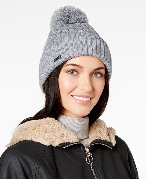 Honeycomb Cable-Knit Beanie
