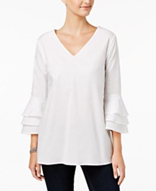 Love Scarlett Petite Tiered Bell-Sleeve Top, Created for Macy's