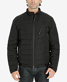 Michael Kors Men's Big & Tall Quilted Moto Jacket