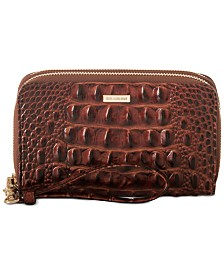 Brahmin Zora Melbourne Embossed Leather Wallet