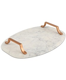 CLOSEOUT! Marble Serving Board with Copper-Finish Handles