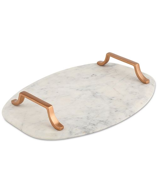 Thirstystone Marble Serving Board with Copper-Finish Handles