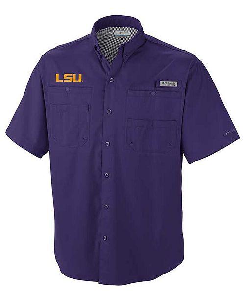 Columbia Men's LSU Tigers Tamiami Shirt