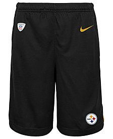 Nike Pittsburgh Steelers Dri Fit Shorts, Big Boys (8-20)