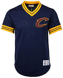 Mitchell & Ness Men's Cleveland Cavaliers V-Neck Mesh Jersey Top
