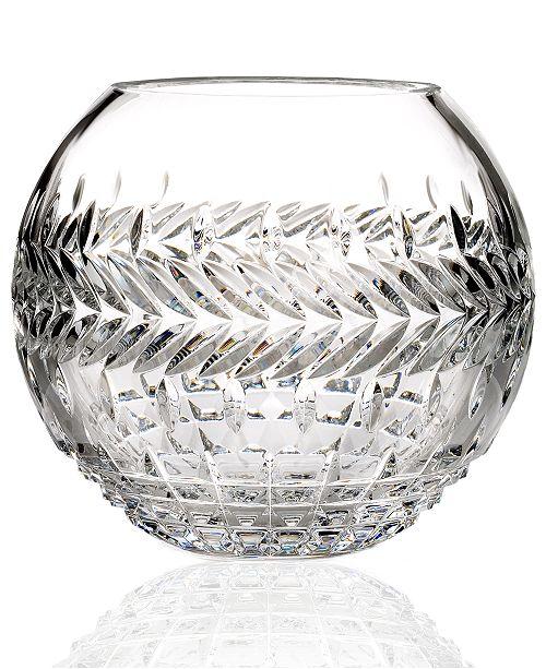 "Waterford Gifts, Fleurology Meg Rose Bowl Vase 8"""