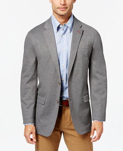 Tommy Hilfiger Men's Slim-Fit Solid Knit Sport Coat - Blazers ...