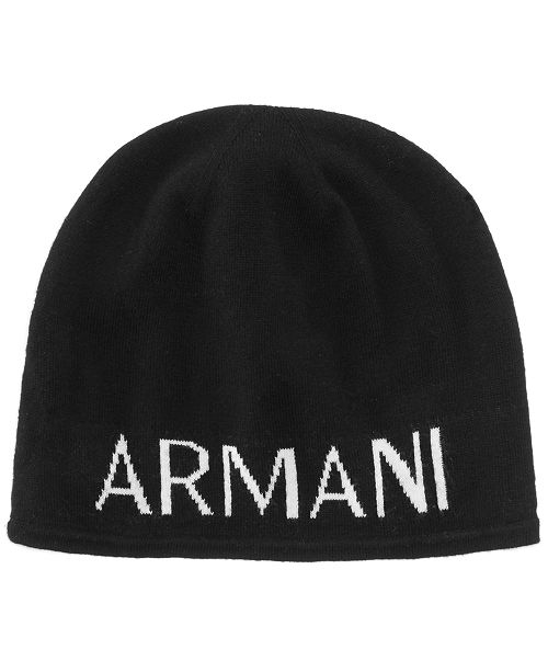 Armani Exchange Men s Logo Beanie  Armani Exchange Men s Logo Beanie ... 1303a092540