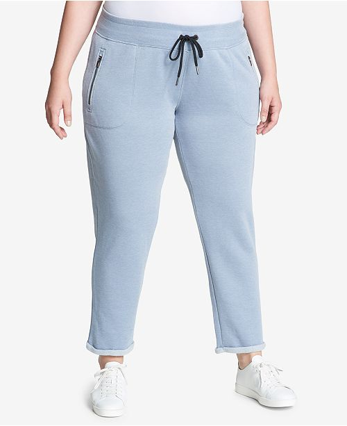 Calvin Klein Plus Size Cuffed Fleece Sweatpants