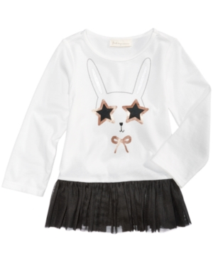 First Impressions BunnyPrint Tulle Tunic Baby Girls (024 months) Created for Macys