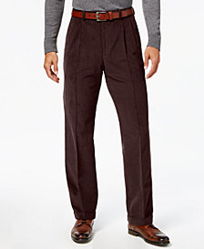 Lauren Ralph Lauren Men's Classic-Fit Corduroy Pleated Cuffed Hem Dress Pants